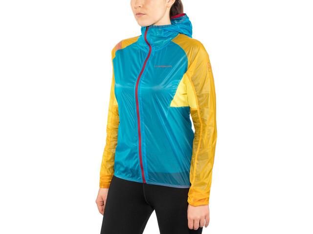 La Sportiva Briza Windbreaker Kurtka do biegania Kobiety żółty/niebieski